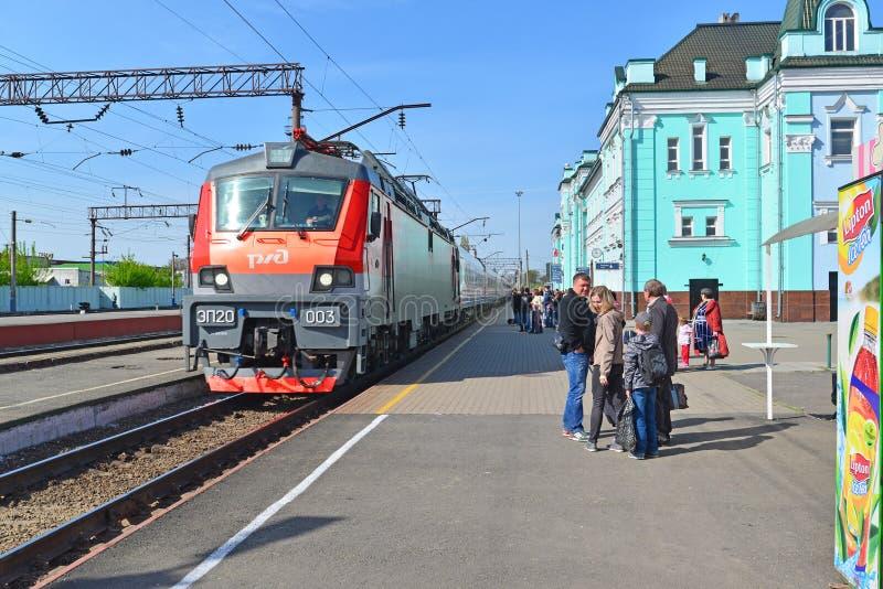 GRJAZI, RUSSIA - 28.08,2015. Train Station - major railway hub in the South-Eastern Railway. GRJAZI, RUSSIA - 28.08,2015. Train Station - a major railway hub in royalty free stock photo