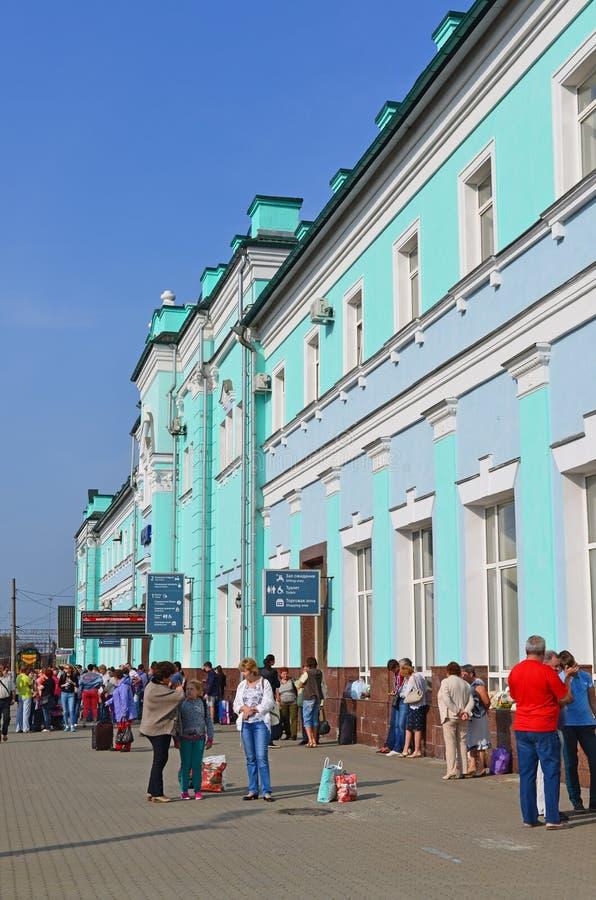 GRJAZI, RUSSIA - 28. 08, 2015. Train Station - major railway hub in the South-Eastern Railway. GRJAZI, RUSSIA - 28. 08, 2015. Train Station - a major railway hub royalty free stock photography
