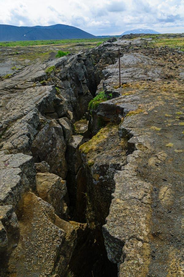 Grjotagja Dichtbij Meer Myvatn stock fotografie
