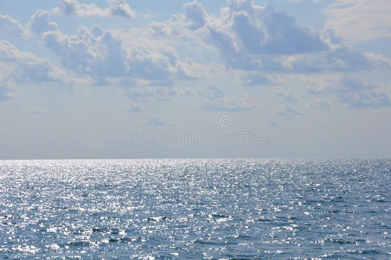 Grka morze, horizont, lekkiego popiółu popiół od se fotografia royalty free
