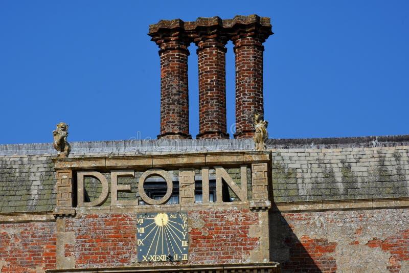 Grka znak, Felbrigg Hall, Norfolk zdjęcie stock