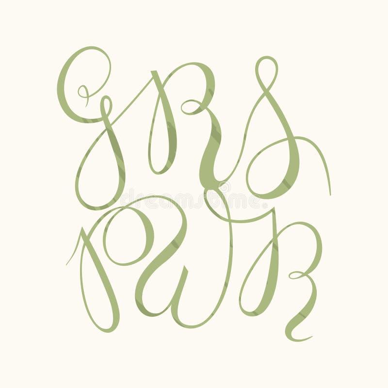 GRL PWR - dziewczyny władzy wektor ilustracji
