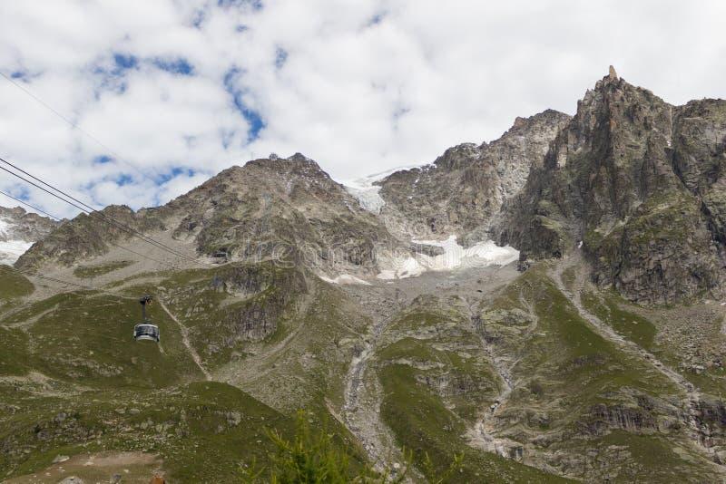 Großartige Ansicht, zum von Blanc-Gebirgsmassiv von 360 Grad observati anzubringen stockbilder
