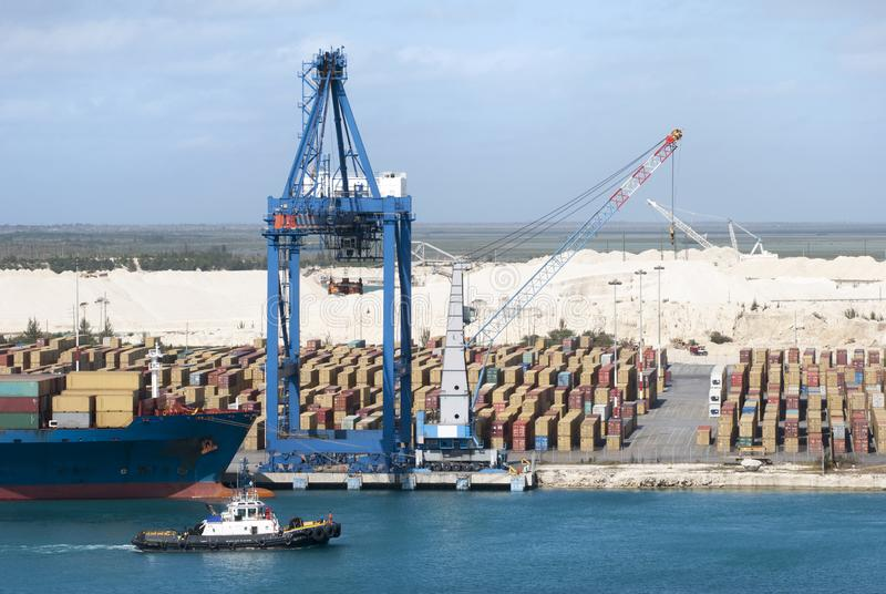 Großartige Bahama-Insel-Hafen-Behälter lizenzfreies stockbild