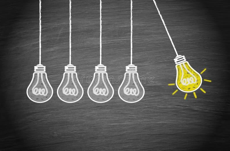 Großartige Idee und Kreativitäts-Konzept lizenzfreie abbildung