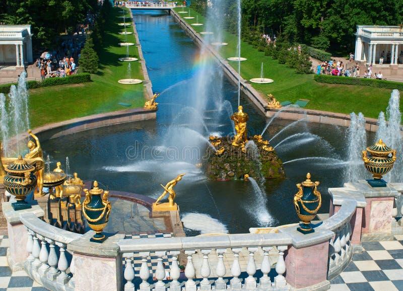 Großartige Kaskade-Brunnen stockbilder