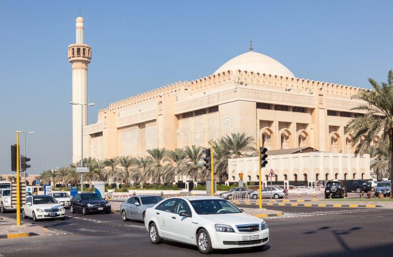 Großartige Moschee in Kuwait-Stadt stockbild