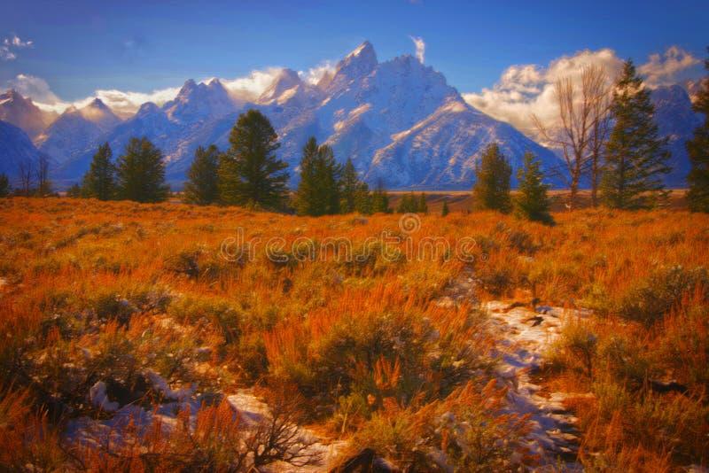 Großartige Teton Berge stockfotografie