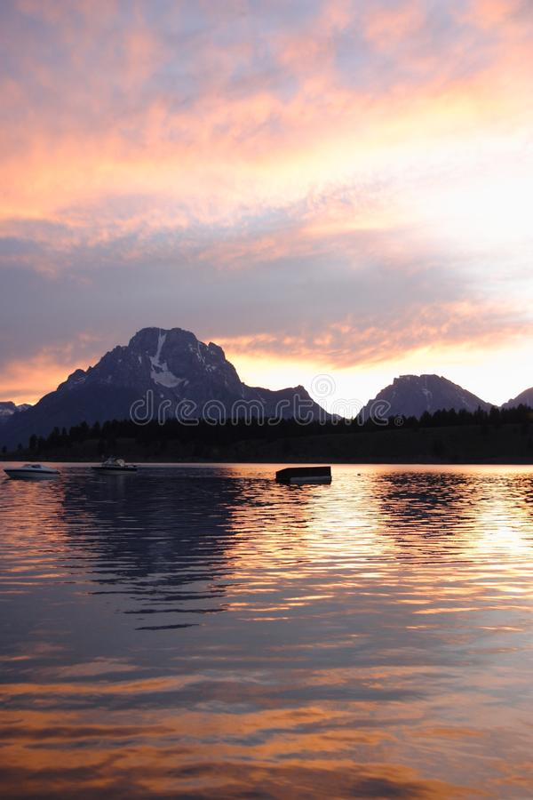 Großartige Teton Berge lizenzfreie stockbilder
