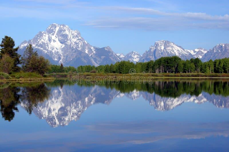 Großartige Teton Reflexion stockfoto