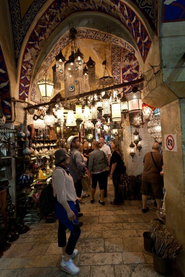Großartiger Basar Istanbul. stockbild