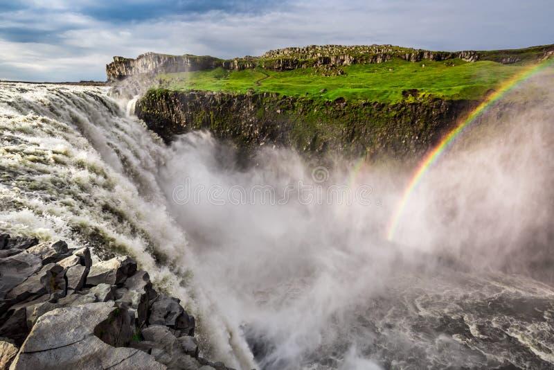 Großartiger Dettifoss-Wasserfall, Island stockbilder