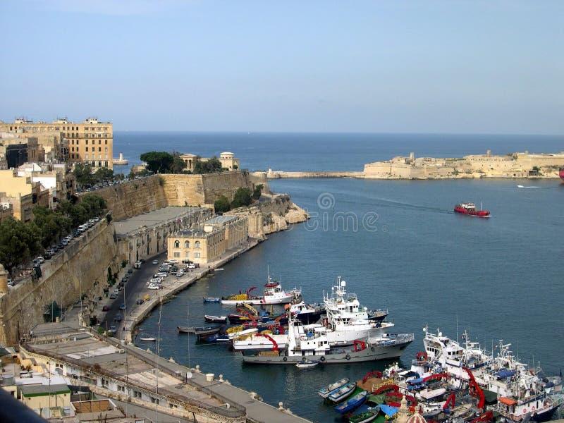 Großartiger Hafen, Valletta, Malta lizenzfreies stockbild