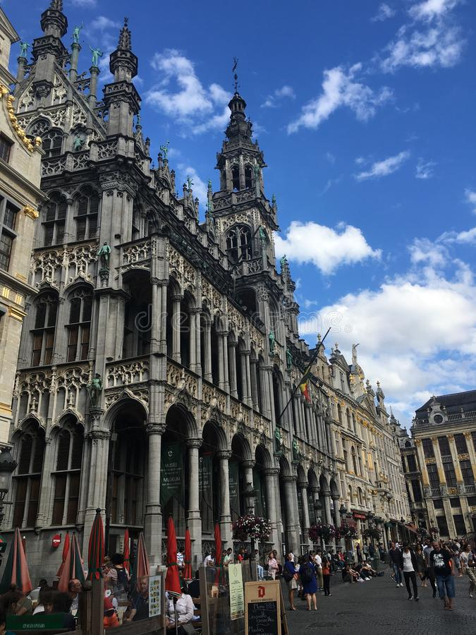 Großartiger Palast, Brüssel stockfotos