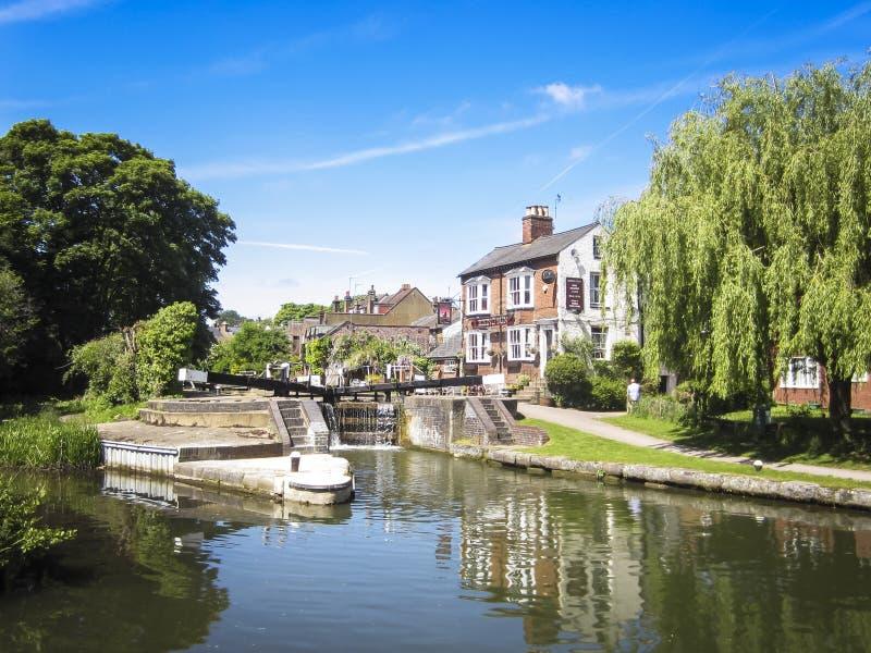 Großartiger Verband Kanal berkhamsted Hertfordshire der Kneipe stockfoto