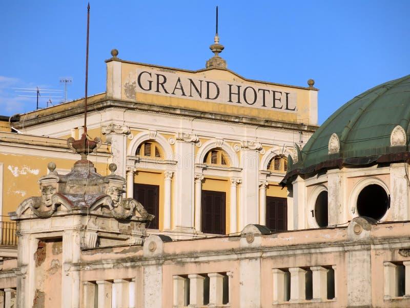 Großartiges Hotel Fiuggi, Italien stockbilder