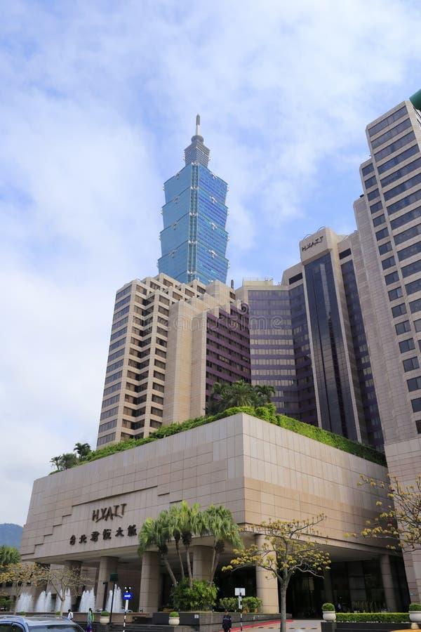 Großartiges hyatt Taipeh-Hotel lizenzfreie stockfotografie