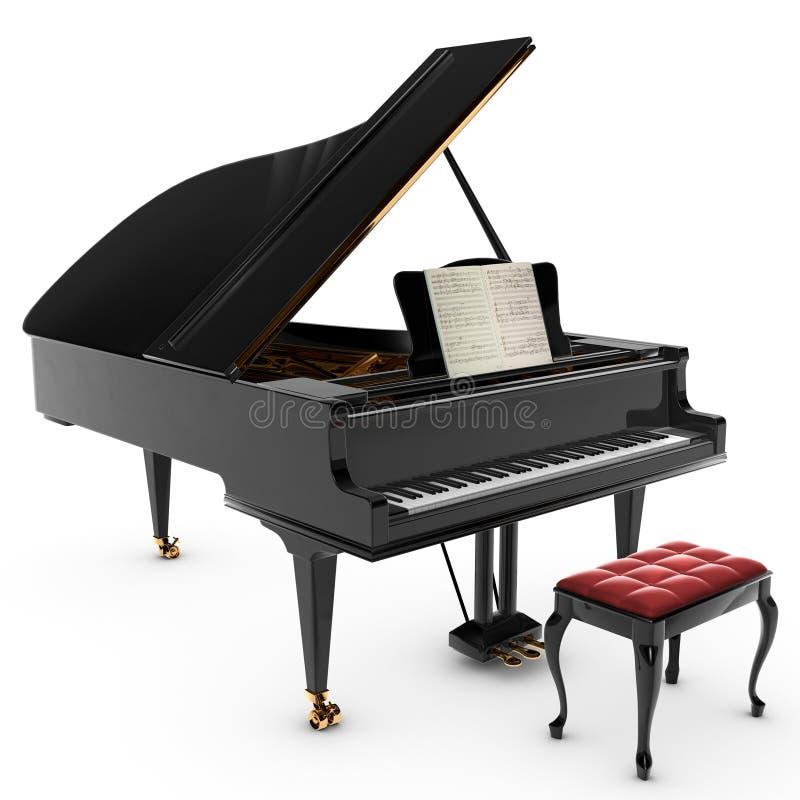 Großartiges Pianio stock abbildung