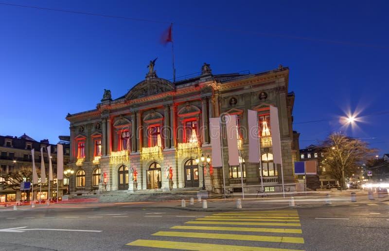 Großartiges Theater oder großes Theater, Genf, die Schweiz lizenzfreie stockfotos