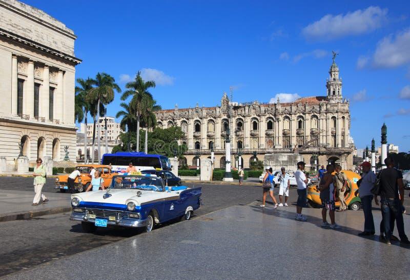Großartiges Theater von Havana. stockfotos