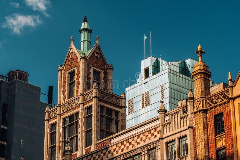 Großaufnahme 45 Tudor City des Gebäudes in Midtown Manhattan New York City stockfotografie