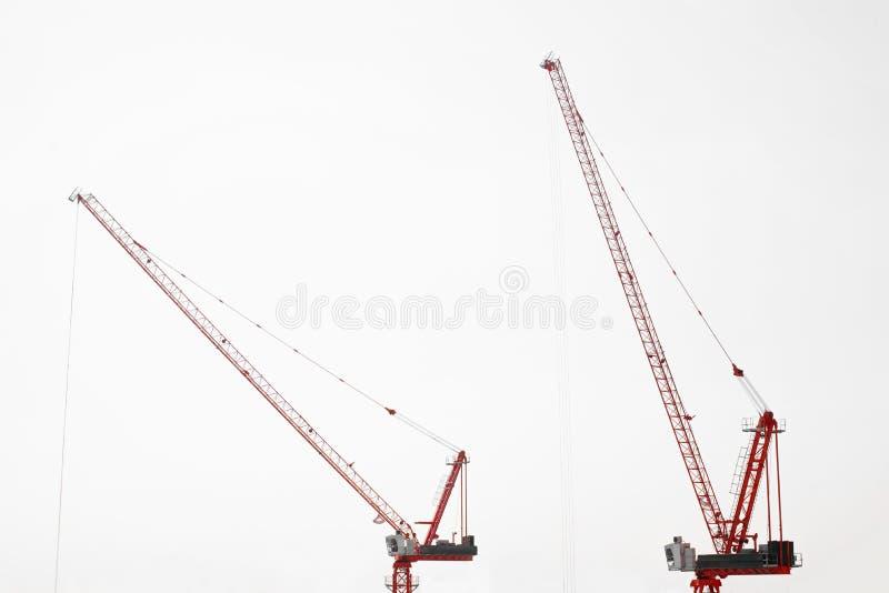 Großbaustelle einschließlich einige Kräne, die an einem Gebäudekomplex arbeiten lizenzfreies stockfoto