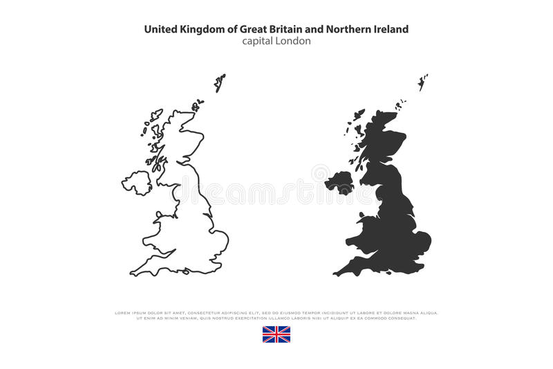 großbritannien stock abbildung
