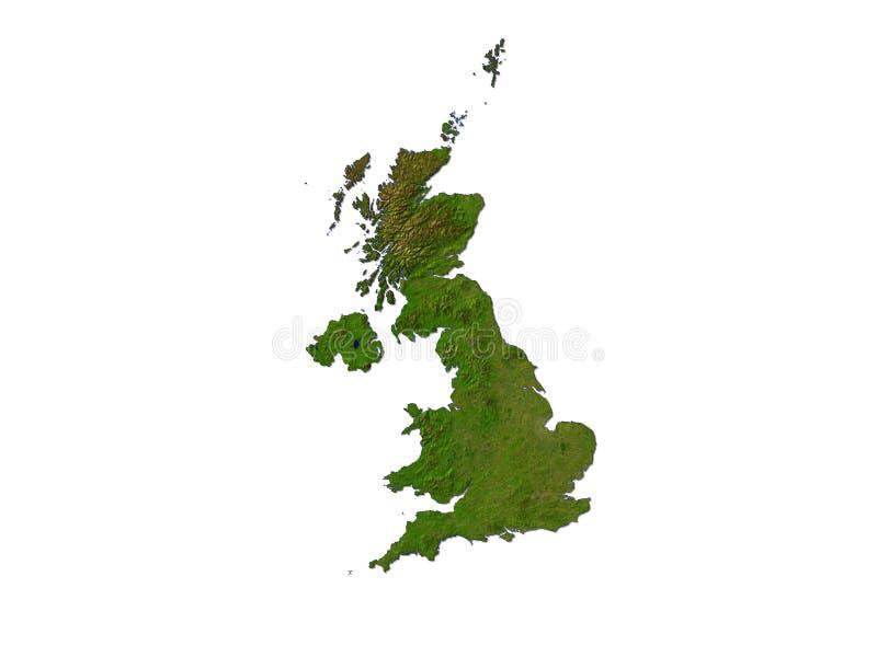Großbritannien auf weißem Hintergrund lizenzfreie abbildung