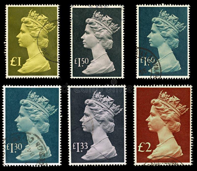 Großbritannien-Briefmarken stockfotos