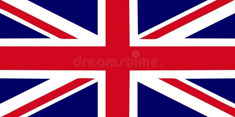 Großbritannien-Markierungsfahne stock abbildung