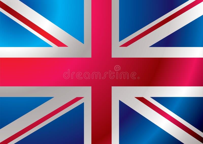 Großbritannien-Markierungsfahnenkräuselung stock abbildung