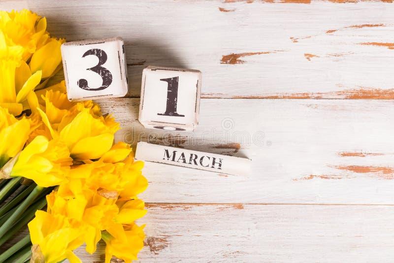 Großbritannien-Mutter-Datum am 31. März für das Jahr 2019, die Tulpen und NAR lizenzfreies stockfoto