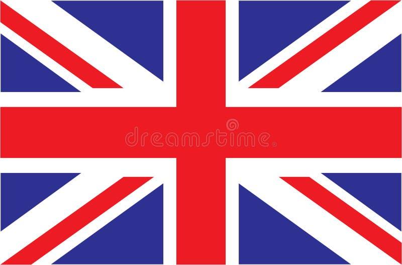 Großbritannien Union Jack Markierungsfahne von Vereinigtem Königreich Offizielle Farben Korrekter Anteil stock abbildung