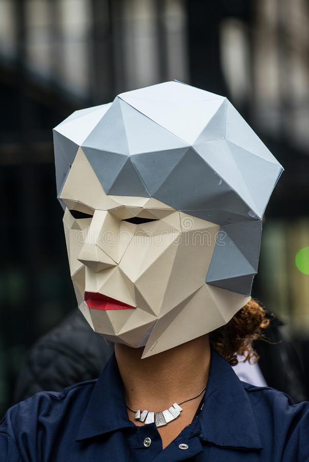 Großbritannien verdient einen Lohn-Aufstieg - beenden Sie der Demonstrationszug der Kappe jetzt stockbild