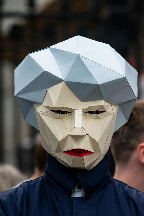 Großbritannien verdient einen Lohn-Aufstieg - beenden Sie der Demonstrationszug der Kappe jetzt stockfotografie