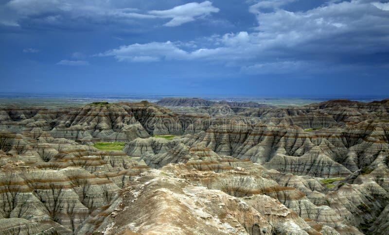 Große Ödländer übersehen, Ödland-Nationalpark in South Dakota lizenzfreie stockfotografie