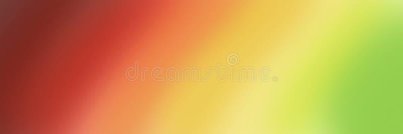 Große abstrakte Fahne in den Steigungsschatten von rotem Gelbem und grün lizenzfreie stockbilder