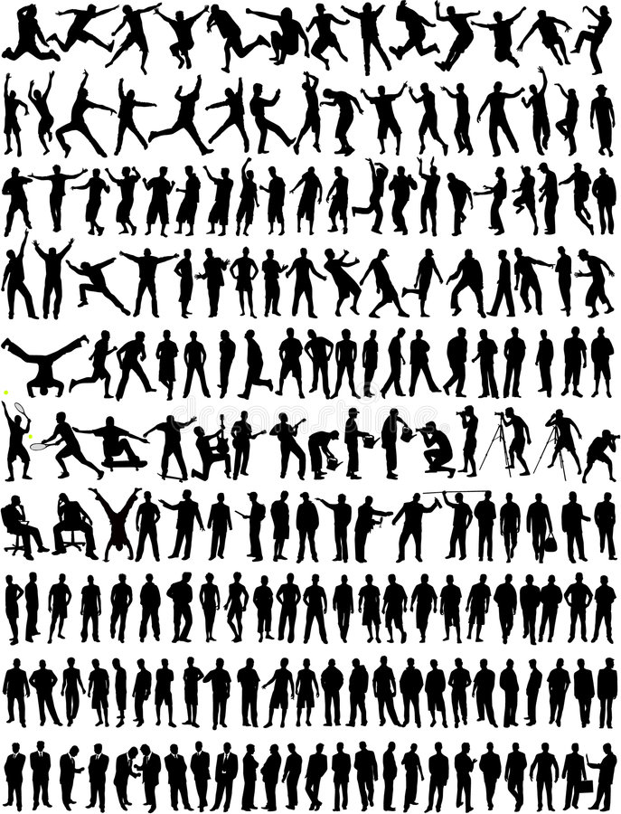 Große Ansammlung - Mann/Junge