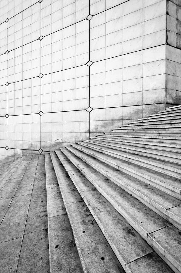 Große arche Treppen, Paris. lizenzfreies stockfoto