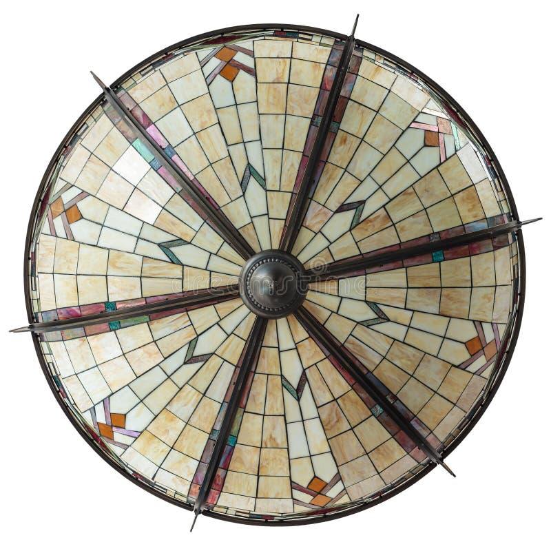 Große Art DecoDeckenlampe getrennt auf Weiß lizenzfreies stockfoto