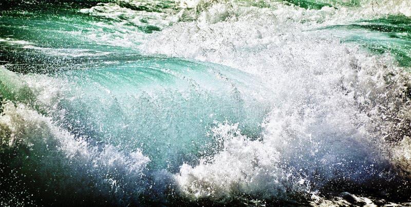 Große Atlantik-Welle stockfoto