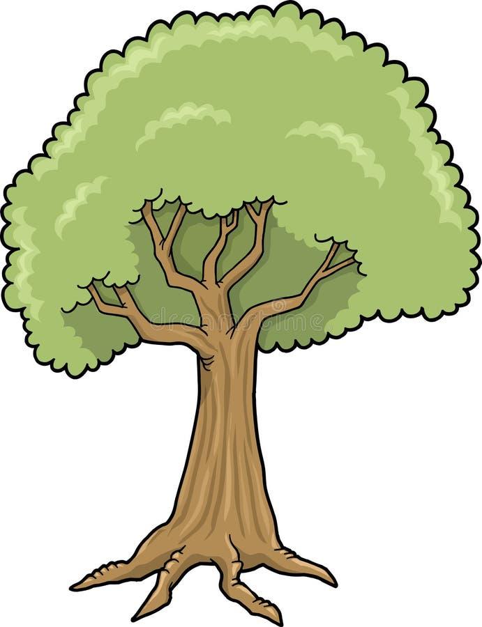 Große Baum-vektorabbildung vektor abbildung