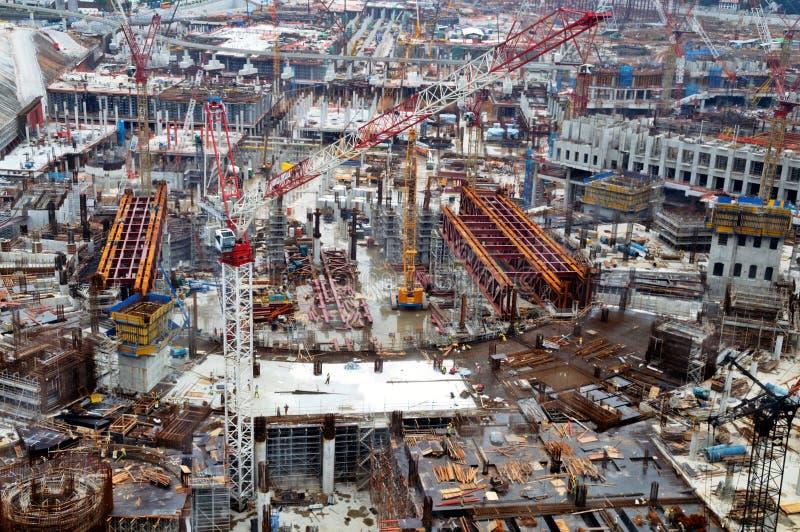 Große Baustelle stockfotos