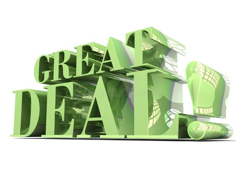 Große Beschriftung des Abkommen-Grüns 3D stock abbildung