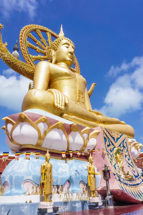 Große Buddha-Statue auf ko samui Insel, Thailand lizenzfreie stockbilder