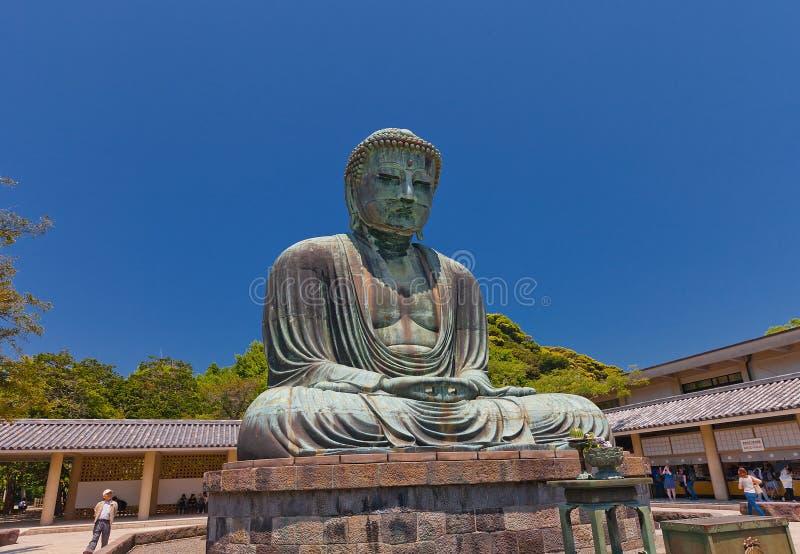 Große Buddha-Statue 1252 von Kamakura, nationaler Schatz von Jap stockbild