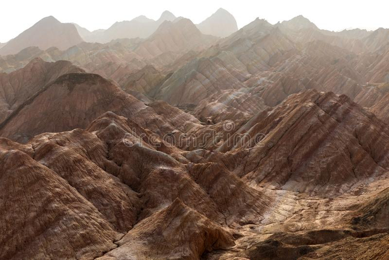 Große bunte Berge in China lizenzfreies stockfoto