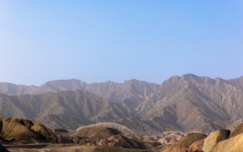 Große bunte Berge in China stockfotos