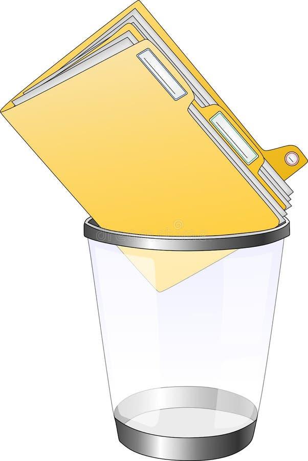 Große Datei in einem Behälter stockfoto