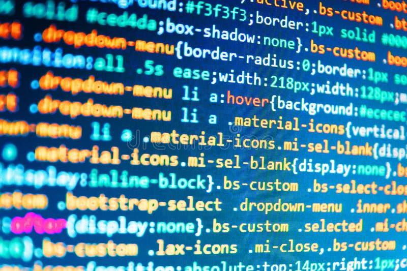 Große Datendatenbank-APP Software-Quellcode lizenzfreie stockfotos